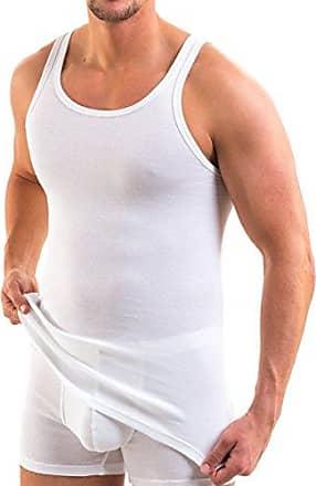 HERMKO 1440 3er Pack Damen Unterhemd mit Spitze aus 100/% Baumwolle Achselhemd Kochfest