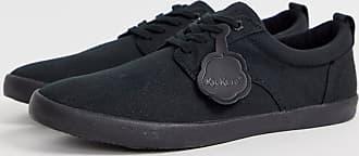 Kickers mens kariko gibb canvas shoe in black