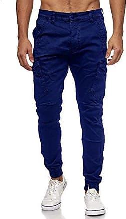 MEGASTYL Herren Jeans Hose in acid waschung mit stretch anteil Blau