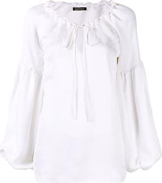 WANDERING Blusa com amarração na gola - Branco