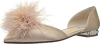 Blue by Betsey Johnson Womens Sb-Anna Pointed Toe Flat, Champagne Satin, 6.5 M US