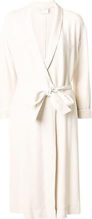 Forte_Forte long belted coat - Neutrals