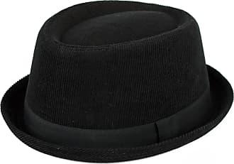Hat To Socks d2d Hats Mens Ladies 100% Cotton Pork Pie Hat Corduroy with Black Band - Black (59/L)