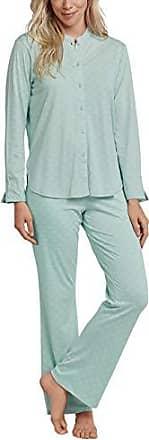 braun melange Schiesser Damen Schlafanzug Pyjama kurz