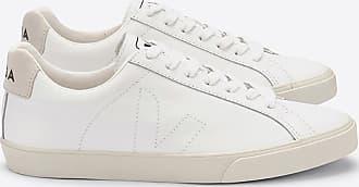 Veja Esplar White Leather Logo Trainer Schuhe - 36
