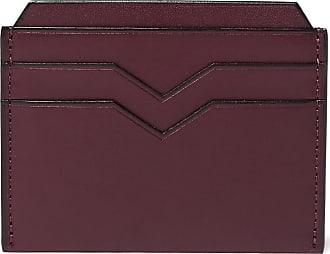Valextra Leather Cardholder - Burgundy