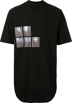 Julius Camiseta com estampa fotográfica - Preto