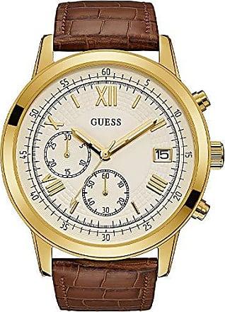 Guess Relógio Guess Masculino Marrom 92680gpgddc4 Analógico 5 Atm Cristal Mineral Tamanho Grande