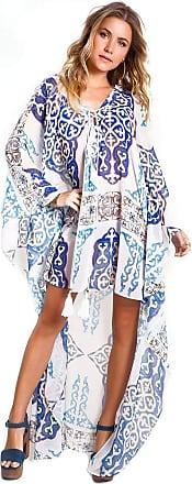 Empress Brasil Caftan Empress Brasil Lolo Estampa Azulejo Azul