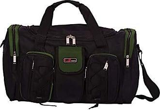 Yin's Bolsa Sacola de Viagem c/Alças e Bolsos tamanho 24 Média Preta/Verde SV0221