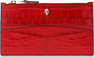Alexander McQueen Logo Wallet Womens Red