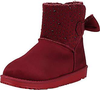 6cd9bcf74130e9 napoli-fashion Damen Stiefeletten Schlupfstiefel Warm Gefütterte Stiefel  Strass Winter Boots Winterschuhe Schleifen Wildleder Optik