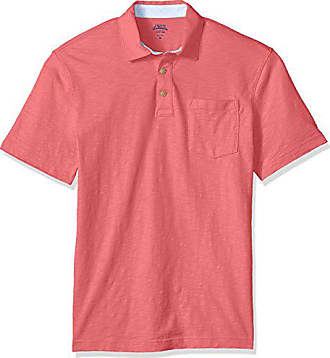 d6f31861 Izod Mens Wellfleet Short Sleeve Solid Slub Polo, Rapture Rose, Small