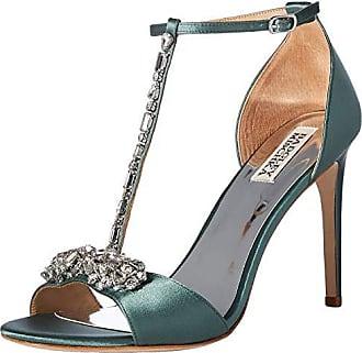 Badgley Mischka Womens Pascale Heeled Sandal, sage Satin, 9 M US