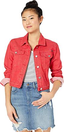 Volcom Womens George May Jagger Shrunken Denim Jacket, Red, Medium