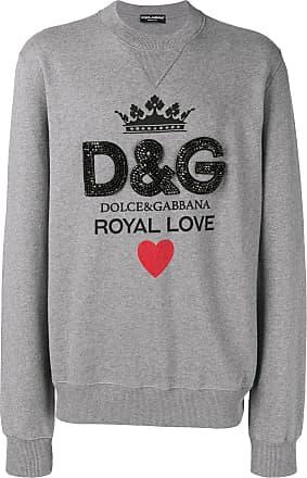 Dolce   Gabbana crystal embellished logo sweatshirt - Grijs 9769560ad95d