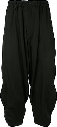 Yohji Yamamoto elasticated cropped trousers - Black