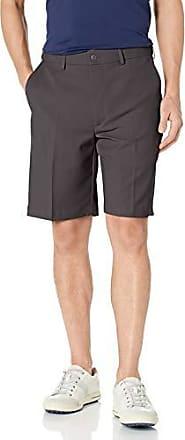 PGA TOUR Short de golf extensible à devant plat pour homme, asphalte, 33