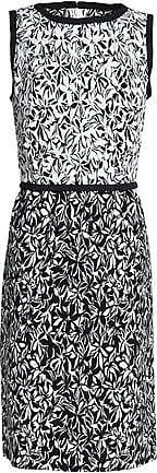 Oscar De La Renta Oscar De La Renta Woman Printed Cotton-blend Dress Black Size 2