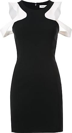 MUGLER shoulder cut out dress - Black