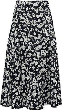 Derek Lam Derek Lam Woman Jacquard-knit Midi Skirt Navy Size 50