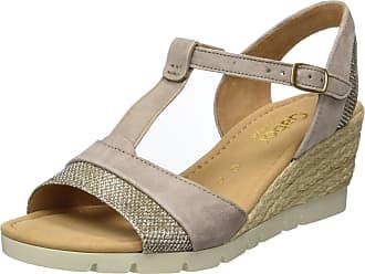 Gabor Shoes Womens Comfort Sandals Wedge Heels Sandals, Multi-Colored  (koala argent d91da3d072