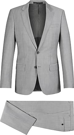 BOSS Italian Virgin Wool Suit, Slim Fit Huge/Genius