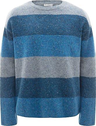 J.W.Anderson Suéter decote careca com listras - Azul