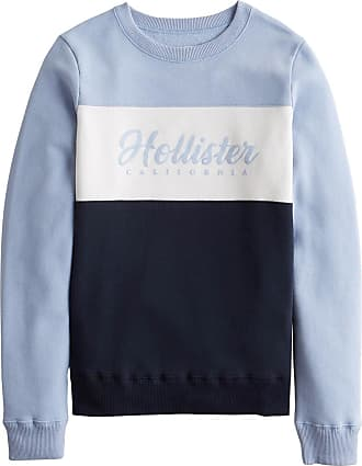 Hollister Sweatshirt navy / helllila / weiß