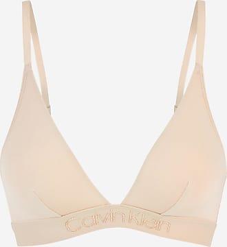 Calvin Klein Soutien-gorge triangle Tonal Logo Beige Calvin Klein a8e5d920ab4