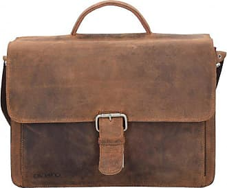 Plevier 550er Serie cartella portadocumenti pelle 41,5 cm compartimenti portatile marrone scuro