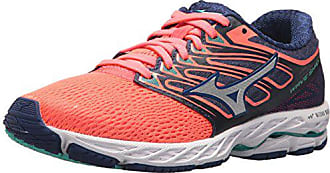 Mizuno Running Womens Wave Shadow Shoes, fiery coral/white, 11 B US