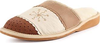 Ladeheid Womens Slippers Flipflops LANO001 (Beige/Brown (K-4003), 5 UK)