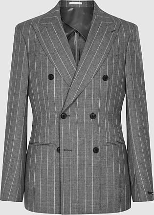 Reiss Tijuana - Pinstripe Wool Blazer in Grey, Mens, Size 42