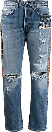 Giacobino Calça jeans com detalhe de contas - Azul