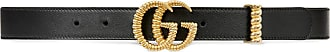 Gucci Cinto de couro com fivela Duplo G texturizada - Preto