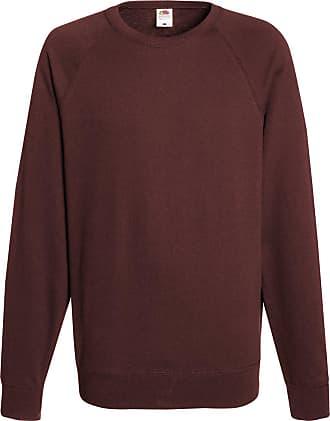 Fruit Of The Loom Brand Raglan Mens Sweatshirt 80/20 / Home Shop Italia - Brown - Xl