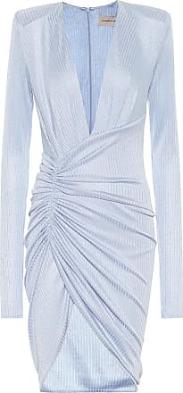 Alexandre Vauthier Metallic ribbed-knit minidress