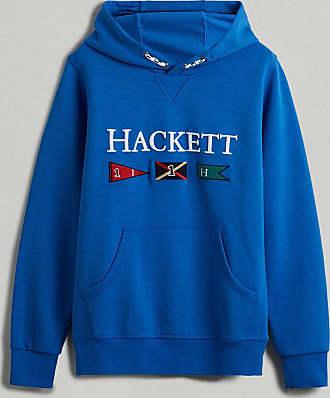 Hackett Sudadera Con Capucha y Bordado de Banderas | Juventud 09 | Pacific Azul | Hombres