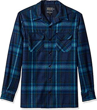 Pendleton Mens Tall Size Long Sleeve Board Shirt, Blue/Teal Ombre, XXL