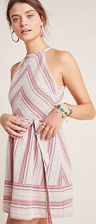 J.O.A. Striped Halter Dress