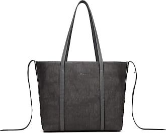 Quirk LEATHER LOOK TWO WAY TOTE SHOULDER BAG - GREY