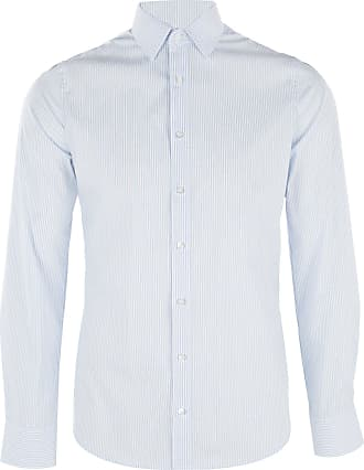 Olymp Level 5 Body Fit Mens Long Sleeve Shirt - blue - 15.5
