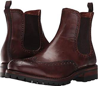 Frye George Lug Brogue Chelsea (Cognac Vintage Pull-Up) Mens Boots