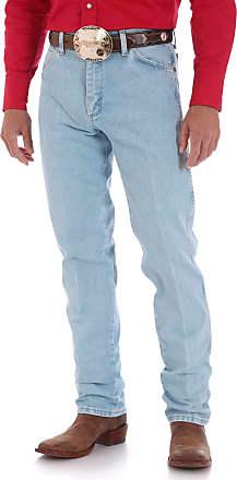 Wrangler Mens Cowboy Cut Original Fit Jean - Gold Buckle Bleach, 42W x 30L