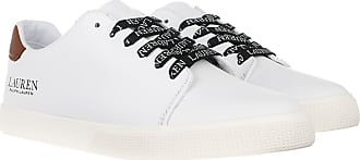 Lauren Ralph Lauren Sneakers - Joana Vulc Sneakers White/Deep Saddle Tan - white - Sneakers for ladies