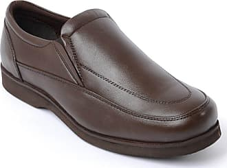 Chums Mens Cambridge Leather Slip On Shoe Brown 11 UK