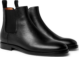 Lanvin Full-grain Leather Chelsea Boots - Black
