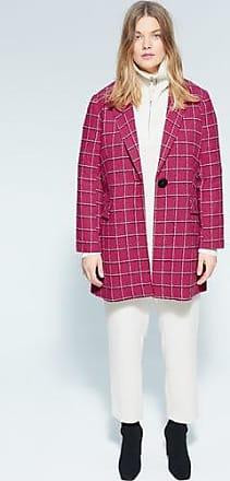 Violeta by Mango Checked wool-blend coat