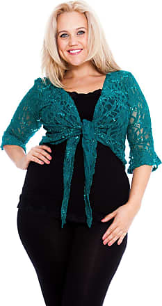 Nouvelle Collection 2 Way Sequin Shrug Jade 20-22